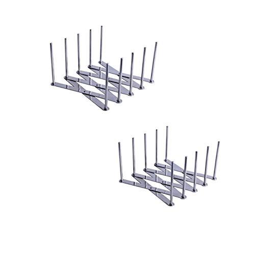 Porta coperchio Agreenway, supporto per costine, realizzato in acciaio inossidabile, per la preparazione di costolette o arrosto, telaio porta coperchi, portapiatti regolabile