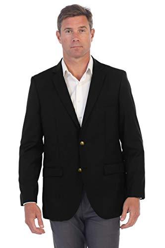 Gioberti Mens Formal Black Blazer Jacket, Size 42 Regular