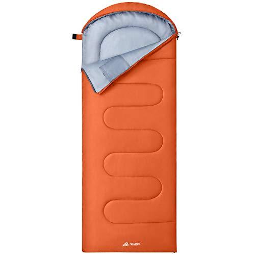 Semoo Schlafsack Wasserdichter Lightweight, 190T Polyester, mit Kompressionsbeutel für Camping, Festivals, Wandern, Outdoor