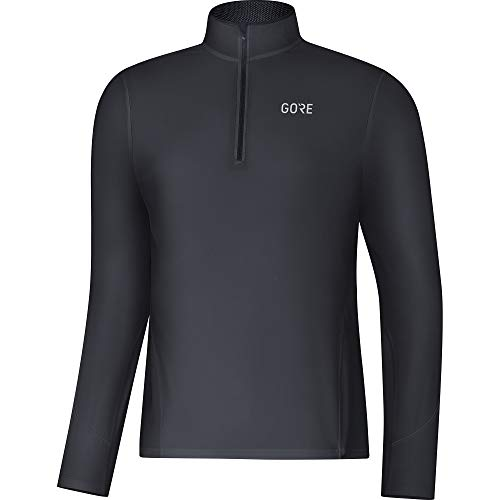 GORE WEAR Herren R3 Zip Shirt langarm, black, M