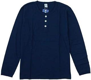 Velva Sheen(ベルバシーン)ヘンリーネック 丸胴長袖Tシャツ TUBULER L/S HENLEY NECK TEE 161644 無地