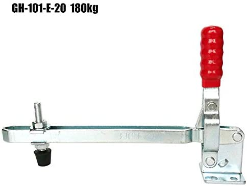 liberaci/ón r/ápida. herramienta manual con capacidad de retenci/ón de 180 kg 1 x GH-101-E-20 pinza mecedora de metal con mango rojo abrazadera de rodillera