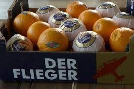 Orangen süß + saftig Marke Flieger 10 kg Karton aus Spanien