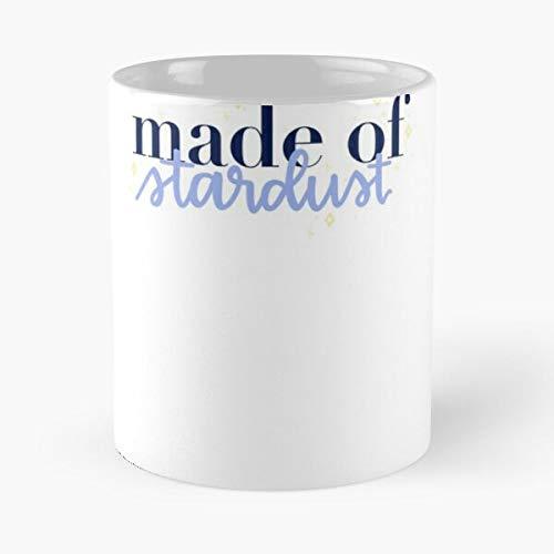 Preppy Vsco Stars Calligraphy Cote Stardust Best Taza de café de cerámica de 315 ml con texto en inglés 'Eat Food Bite John Best Taza de café de cerámica de 315 ml