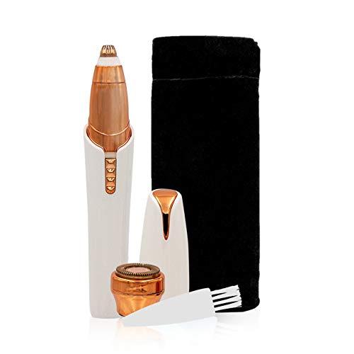 Roxy Perfect Brows - Afeitadora de cejas con luz LED, resistente al agua, sin dolor, con accesorio de recambio para depilación facial y de cejas