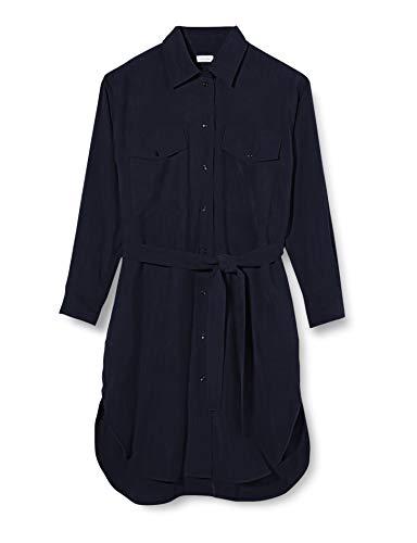 Seidensticker Damen Blusenkleid Midi Kleid, Blau (Navy Blazer 19), (Herstellergröße: 38)