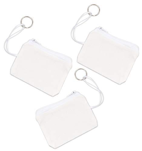 Baker Ross Geldbörsen mit Schlüsselring aus Stoff - für Kinder zum Dekorieren - Portmonee - 6 Stück