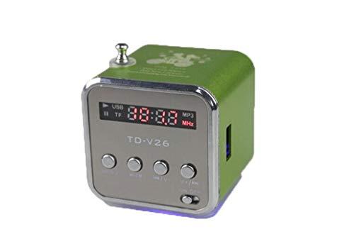 Oulensy TD-V26 Mini Digital portátil Reproductor de música WithSD/TF/USB/FM Radio - Verde