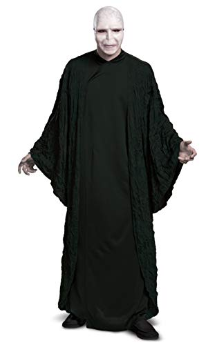 Disfraz de Harry Potter Voldemort Deluxe para adultos, Harry Potter Voldemort Deluxe - Disfraz para adulto, XL (42-46), Negro