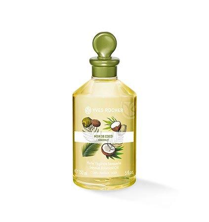 Yves Rocher LES PLAISIRS NATURE Pflanzliches Körper-/Massage-Öl Kokosnuss, verwöhnendes Körper-Öl, 1 x Flacon 150 ml