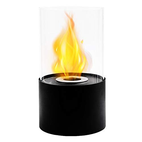 Black Fireplace Tabletop Fire Bowl for Table Home Garden Balcony