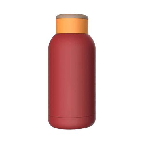 Luccase Vakuumisolierter Edelstahlbecher mit Deckel Handwärmer Klimaanlage Funktion Zweischichtiger Edelstahl Tasse Smart Magie Temperature Tasse für Heißes Eisgetränk (Rot)