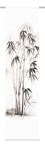Home Fashion SCHIEBEVORHANG DEKOSTOFF Digitaldruck Bambu, Stoff, grau, 245 x 60 cm