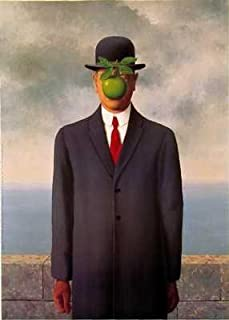 Son Of Man By Rene Magritte Highest Quality Art Print Poster - Size: 20 X 27.5