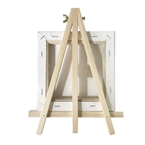 EXCEART 4 Juegos de Soporte de Exhibición de Madera Mini Trípode Caballete Decorativo Soporte de Pintura con Lienzo de Pintura para Arte Marco de Foto Placa de Placa Libro Tarjetas Tablet