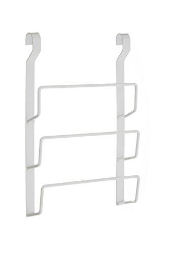 Premier Housewares Sorello Porte-Couvercle De Casserole Suspendu en Fer Blanc -Etagere Murale Cuisine- Range Couvercle- Revêtements en Poudre