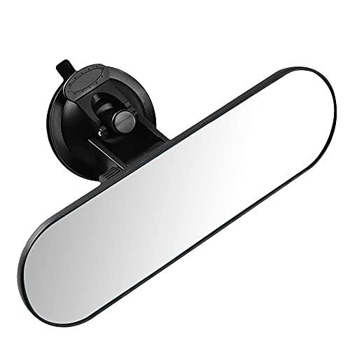 YeenGreen Rückspiegel Auto, Innenspiegel Auto Universal, Auto Rückspiegel Weitwinkel, Rückspiegel Auto Saugnapf, 360 ° Verstellbarer Innenspiegel, Weiß Glas Anti Blend Große Vision (22 x 6.5 cm)