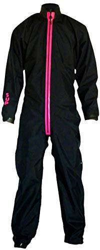 Dry Fashion Damen Herren Trockenanzug SUP-Advance Segelanzug wasserdicht, Farbe:Schwarz/Pink, Größe:XS