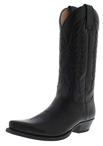 Sendra Boots Unisex Cowboy Stiefel 2073 West Negro Lederstiefel Westernstiefel Schwarz 48 EU