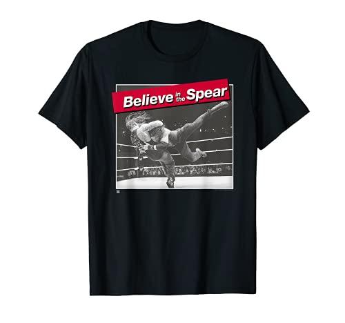 WWE Spear Roman Reigns Foto Red Type Label T-Shirt
