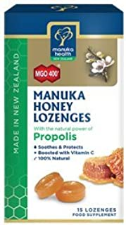 Manuka Health MGO 400+ Manuka Honey + Propolis Lozenges