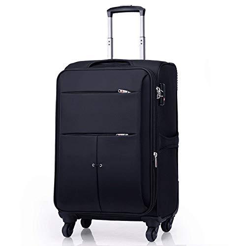 Ys-s Personalización de la tienda Caja de la carretilla caja de encargo suave de la rueda universal de la maleta de tela maleta cuadro de contraseña masculino femenino Oxford impermeable, transpirable