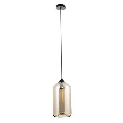 Plafonnier suspendu en verre - Style vintage - Couleur cylindrique (marron)