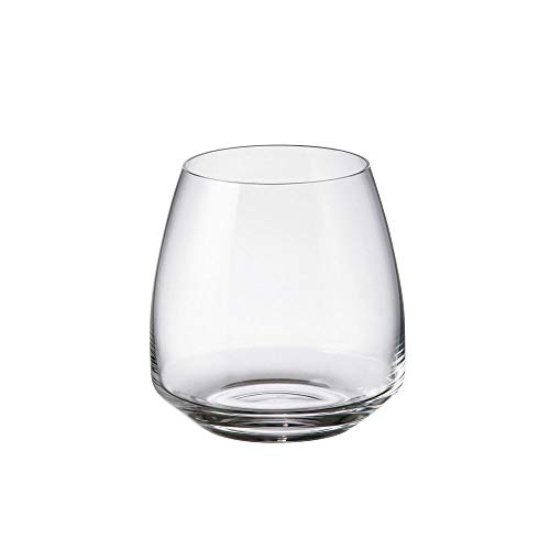 Set 6 Bicchieri Acqua Fade Anser Alize'e Vetro Trasparente Liscio 400ml Bohemia