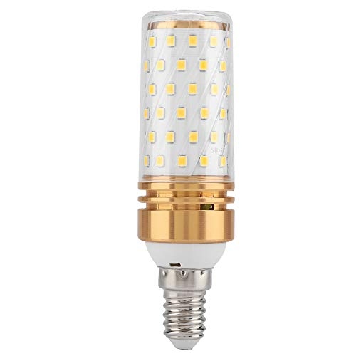 Lampadina 16W, Lampadina LED, Lampadina AC 85-240V per la casa della Camera da Letto(E14 Golden Alloy, Warm White 16 Watts)