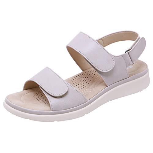 UINGKID Sandalen Damen Mode Peep-Toe- Niedrige römische Flache Schuhe Sommer Strand Schuhe