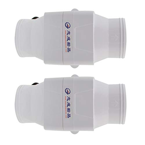 Shiwaki 2 pcs. 12V Rohrventilator Kanalventilator Abluftventilator, Φ 105 mm, 270 CFM, Weiß