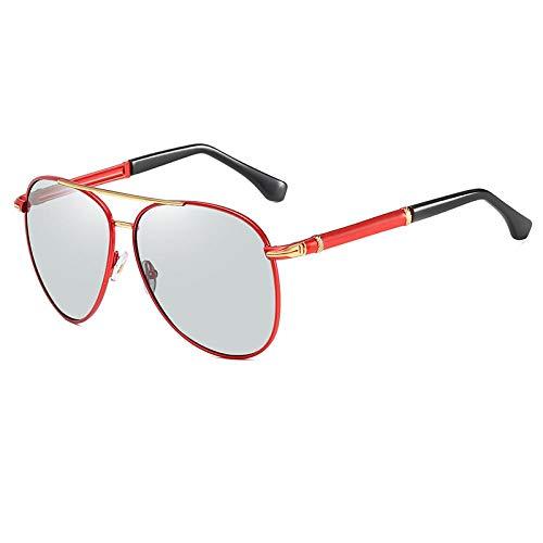 Sunglasses Gafas De Sol Polarizadas De Visión Nocturna Diurna Vintage para Hombre, Gafas De Conducción De Diseñador para Automóvil, Gafas De Sol Fotocromáticas Antideslum