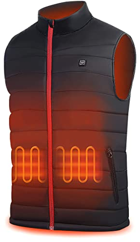 Winna Men's Heated Vest ,Lightweight USB Charging Heating Vest,Electric Heated Jacket for Hunting (Batteries not included)
