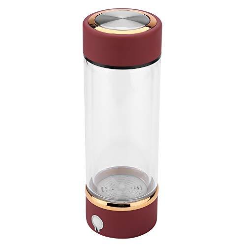 Nannigr Botella de Filtro lonizador de Vidrio Premium Saludable Resistente al Calor ionizador de hidrógeno Resistente, generador de Agua de hidrógeno, para la Cocina casera