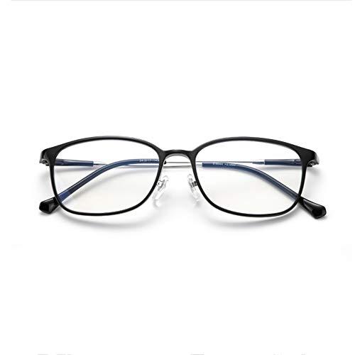 SSHHM PEI Aviation Brillen, Zehnschichtige Beschichtung, Spiralförmiges Metallnasenpolster, Hochauflösende Anti-Blau-Lese Lesebrille, mit Spiegelbox klassisch/Schwarz / 3.50