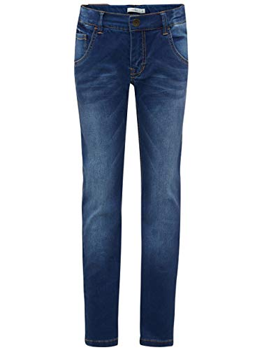 Name It Nkmryan Dnmtaz 3004 Pant Noos Jeans, Gris (Dark Blue Denim), 104 Bébé garçon