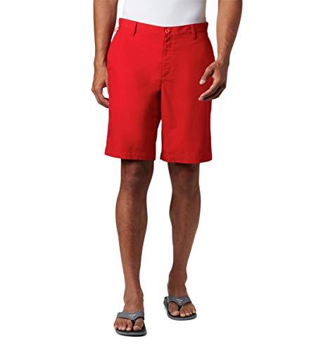 Columbia Pantalón Corto Bonehead II para Hombre, Hombre, 170896, Chispa roja, 54x10
