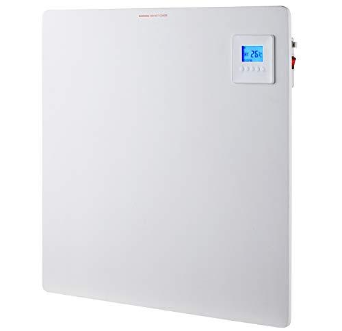 Infrarotheizung Wandheizung Heizung Heizpaneel mit Timer und LCD Display. Digital Infrarot Heizung Heizkörper Inkl.Standfüßen DMS® (80 x 60 x 1 cm 550Watt)
