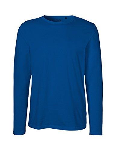 Green Cat- Herren Langarm T-Shirt, 100% Bio-Baumwolle. Fairtrade, Oeko-Tex und Ecolabel Zertifiziert, Textilfarbe: blau, Gr.: XL