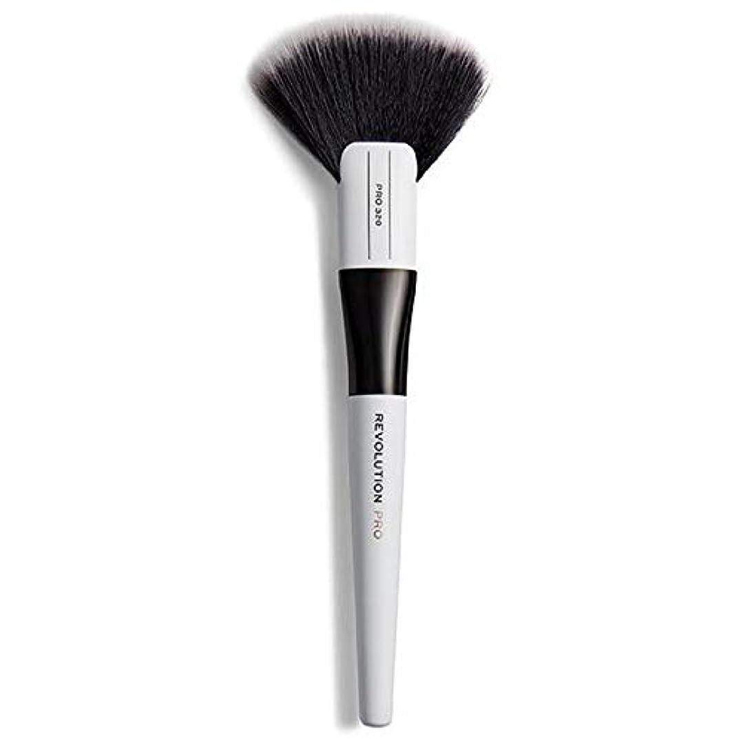 伝染性発明ホイール[Revolution ] 革命は320大ファンブラシメイクブラシをプロ - Revolution Pro 320 Large Fan Brush Makeup Brush [並行輸入品]
