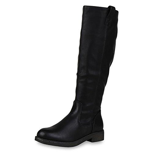 SCARPE VITA Klassische Stiefel Damen Schuhe Leicht Gefüttert Boots Profilsohle 165381 Schwarz 37