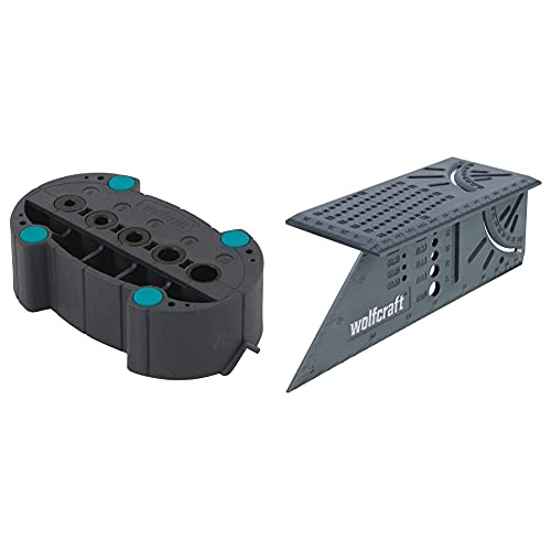 "Wolfcraft 5208000 Escuadra 3D, 0 W, 0 V, Gris, 150 x 275 x 66 mm + 4685000 4685000-1\""accumobil guía para taladrar móvil"