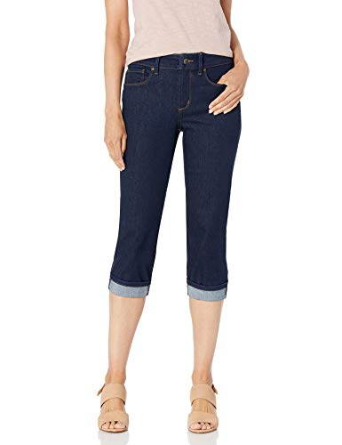 NYDJ Women's Marilyn Straight Cuff Cropped Slimming Jeans, Rinse, 14