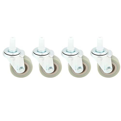 Rueda giratoria, PVC + Metal para ruedas de carro Construcción de carros industriales Carros de logística(2 Inch)