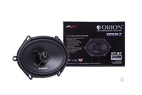 Orion Cobalt Series CT-57 5x7 2-Way Coaxial Speaker 350 Watts Max Music Power Set of 2 Speaker