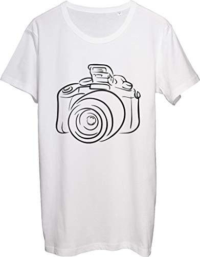 Vintage foto cámara lineal diseño camiseta de los hombres bnft