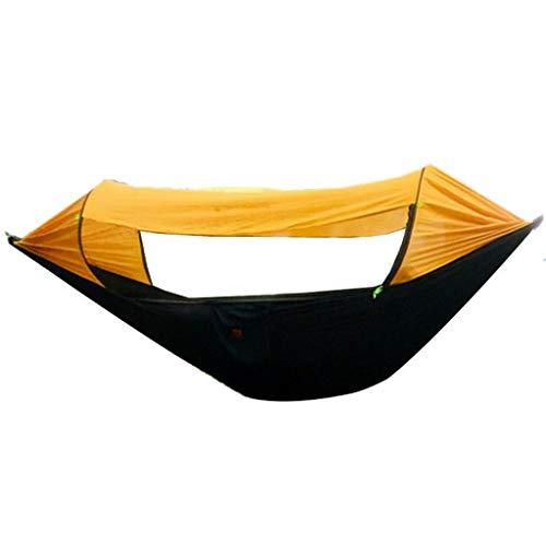 LZG Camping hamac avec moustiquaire et Double Toit Couverture, hamac léger et Portable for extérieur Randonnée pédestre Voyage (Couleur : Jaune)