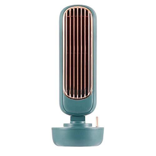 LXYZ USB-Tischventilatoren Bladeless Spray Mist Tower-Lüfter mit 3 Geschwindigkeitseinstellungen Mini Silent Bladeless-Lüfter für Heim und Büro, Grün