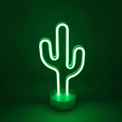 Cactus Luz de neón Signo de arte LED Luces decorativas Decoración de pared con base de soporte Lámparas de cactus para el día de Pascua Decoraciones para bebés Niña Dormitorio