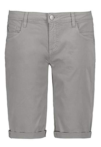 Sublevel Damen Baumwoll Bermuda-Shorts im Chino Stil Light-Grey M